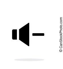 Volume minus. Speaker icon on white background.