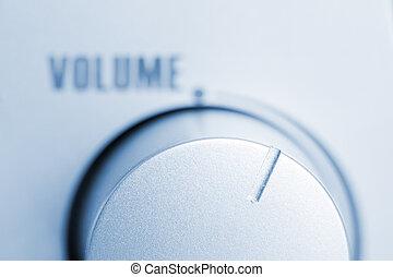 Volume regulator - Close-up of loudspeaker volume regulator....
