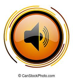 volume round design orange glossy web icon