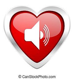 volume, sinal, música, valentine, ícone