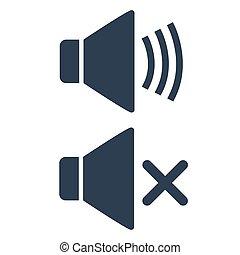 Volume sound icon on white background.