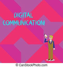 volume, su, forma, scambio, foto, esposizione, digitale, communication., segno, dall'aspetto, parlare, presa a terra, testo, concettuale, uomo affari, icon., megafono, dati, trasmette