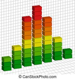 Volume tempo graph - Vector - Illustration of a volume tempo...