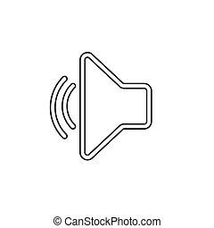 volume, vetorial, orador, ícone