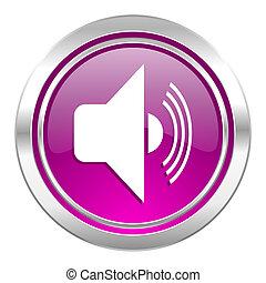 volume violet icon music sign
