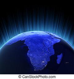 volumen, afrikas, render, 3d