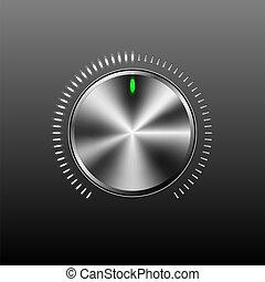 volumen, botón