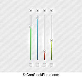 volumen, conjunto, barra, vector