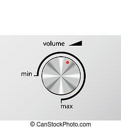 volumen, control.