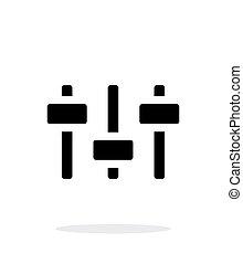 volumen, control., igualada, icono, blanco, fondo.