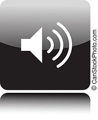 volumen, orador, icono