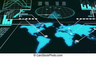 """Volumetric animation of airplane radar"""