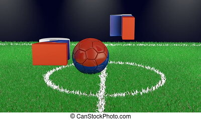 Volumetric figures and soccer ball - Volumetric figures of...