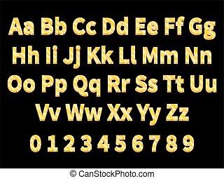 Volumetric gold letters