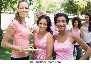 voluntário, câncer, participantes, peito, campanha