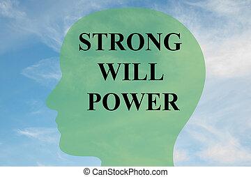 voluntad, concepto, potencia, fuerte