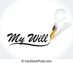 voluntad, mi, mensaje, diseño, ilustración