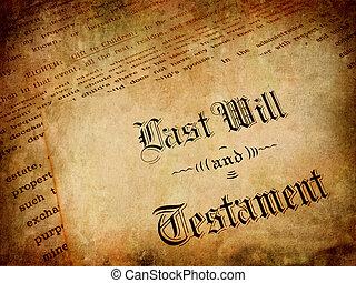 voluntad, testamento, último