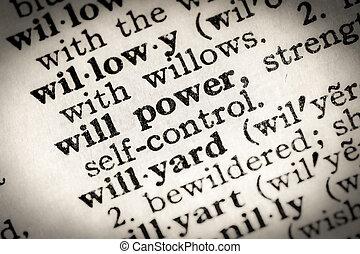 voluntad, texto, potencia
