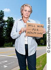 voluntad, trabajo, atención sanitaria