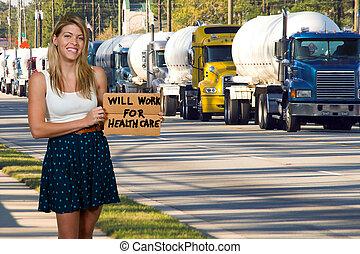 voluntad, trabajo, para, atención sanitaria