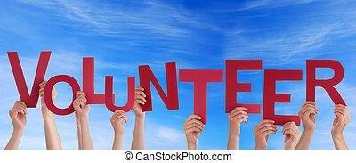 voluntario, en, el, cielo