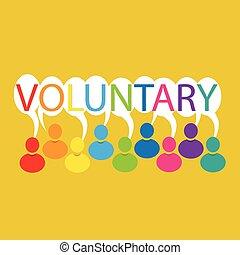 Voluntary people meeting