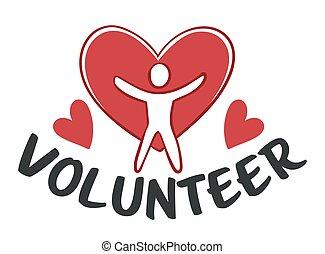 Volunteer and charity, organization helping people