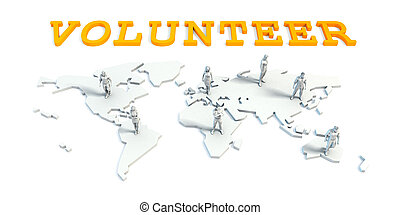 volunteer Concept with Business Team