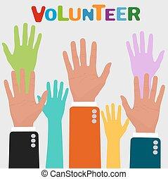 volunteer concepts, vector