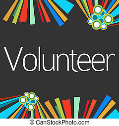 Volunteer Dark Colorful Elements