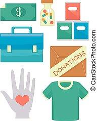 Volunteer Donations Elements Illustration