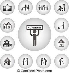 volunteer for non profit social service icon