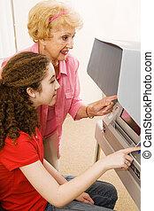 Volunteer Helps Voter