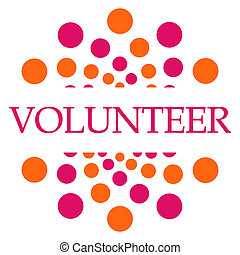 Volunteer Pink Orange Dots