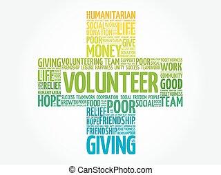 Volunteer word cloud collage