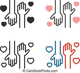 Volunteering help icons