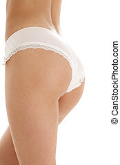 voluptuous back in pink panties - classical image of...