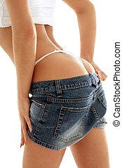 voluptuous back - classical image of voluptuous female...
