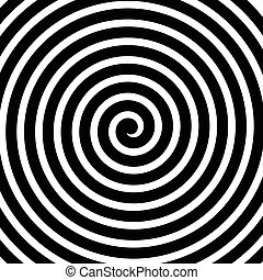 Volute, spiral, concentric lines, circular motion, rotating...