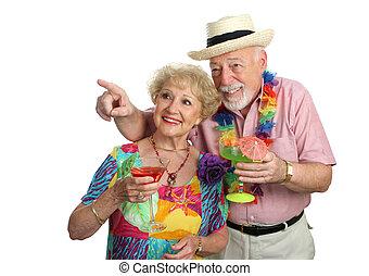 volwassen paar, sightseeing