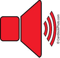 volym, högtalare, ikon