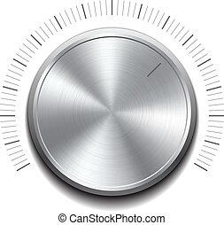 volym, -music, knapp, knopp