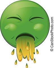 Vomit emoji vector icon