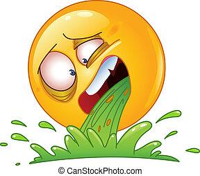 Vomiting emoticon - Emoticon vomiting