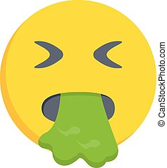 vomiting vector flat colour icon