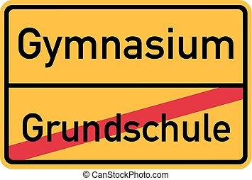 von, grundschule, zu, gymnasium, -, deutsch