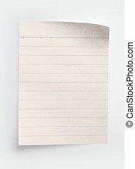 vonalazott, jegyzetfüzet papír