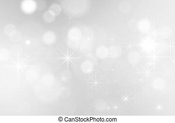 vonkeelt, helder, zilver, achtergrond