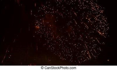 vonken, ontploffen, vuurwerk, gelul